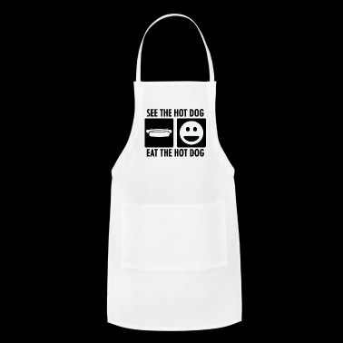 See the Hot Dot Eat the Hot Dog - Adjustable Apron