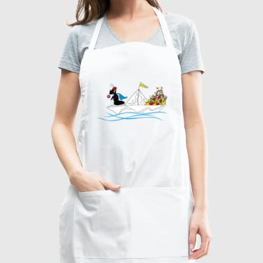 ant on paper boat - Adjustable Apron