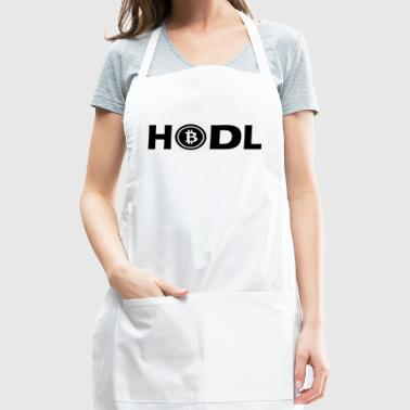 HODL BTC Bitcoin Cryptocurrency black - Adjustable Apron