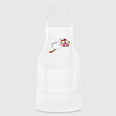 Stork Twins Baby Babies Girls Pregnancy Daughters - Adjustable Apron