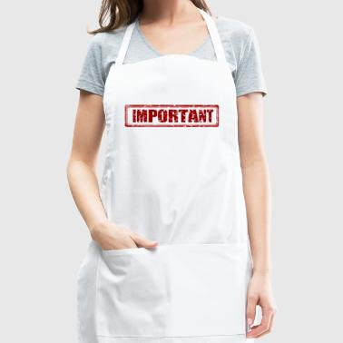 important - Adjustable Apron