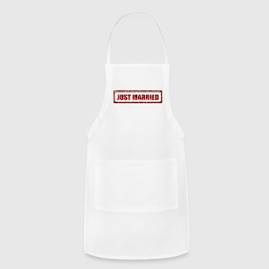Just Married Marriage Stamp Gift Present - Adjustable Apron