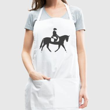 Black Dressage Horse - Adjustable Apron