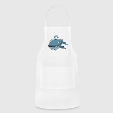 Whale Fish Sperm Ocean Animal Gift Present - Adjustable Apron