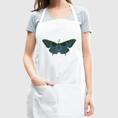 Butterfly Geometry Present Art Design Green - Adjustable Apron