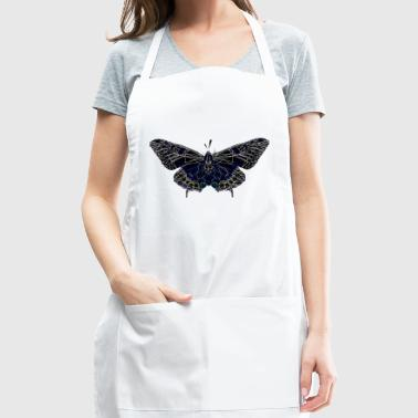 Butterfly Geometry Present Art Design Black - Adjustable Apron
