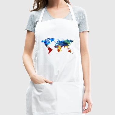 Colourful World Map - Adjustable Apron