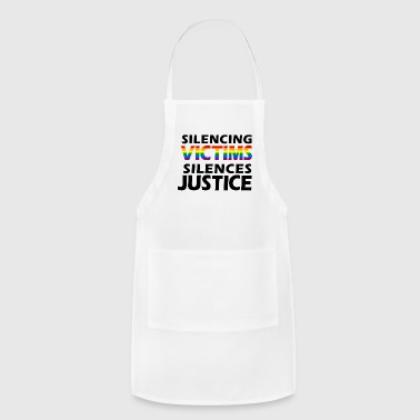 LGBTQ Silencing Victims Silences Justice - Adjustable Apron