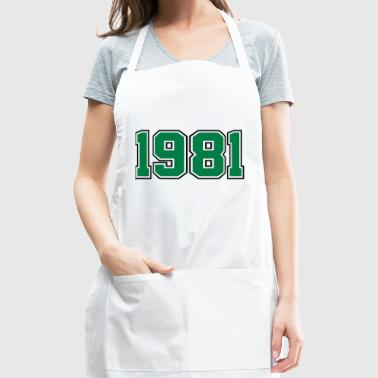 1981 | Year of Birth | Birth Year | Birthday - Adjustable Apron