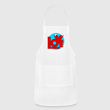 Love,february and valentine. - Adjustable Apron