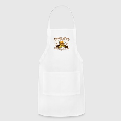 Country Music Beer Love Thats Why Im Here - Adjustable Apron