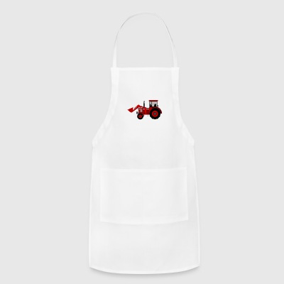 Cute Funny Cute tractor Comic Drawing T-Shirt - Adjustable Apron