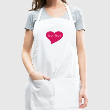 True Love Pink Heart Valentine's Day T-Shirt - Adjustable Apron