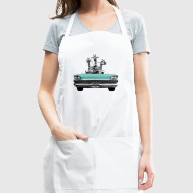 Vintage Retro Singing Giraffes Car Road Trip - Adjustable Apron