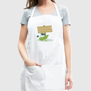 Frog with Sign -Write your own custom text message - Adjustable Apron