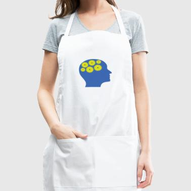 Moving gears (thoughts) optical illusion - Adjustable Apron
