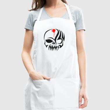 skull Bones Pirat blood Biker hell tatoo tribal - Adjustable Apron