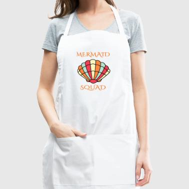 mermaid shell squad - Adjustable Apron