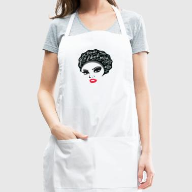 Educated Afro Natural Hair Black strong women gift - Adjustable Apron