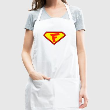 Superman personalized shirt for F name - Adjustable Apron