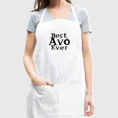 Best Avo Ever Melhor Avo do Mundo best Grandma In Portuguese black - Adjustable Apron