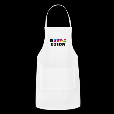Love Is Love LGBT Hands gay couple romance loved - Adjustable Apron