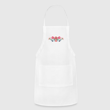 Hungarian folk motifs from kalocsa region - Adjustable Apron