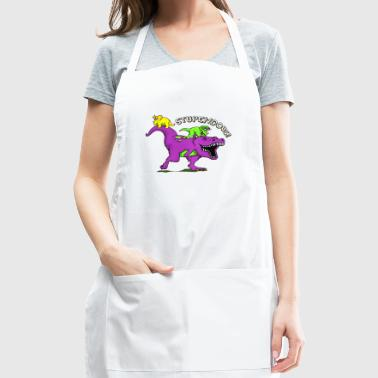 barney dino dinosaur kids television tv pop - Adjustable Apron