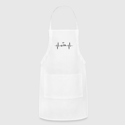 My heart beats for mountains! gift parachute - Adjustable Apron