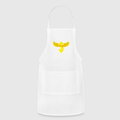 Currency, dollar, wings, gold - Adjustable Apron