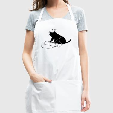 Black Cat Rolling Pin Funny Baking Feline - Adjustable Apron