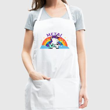 METAL RAINBOW BAND FUNNY UNICORN IRONIC - Adjustable Apron