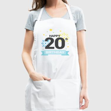Happy 20th Birthday - Adjustable Apron