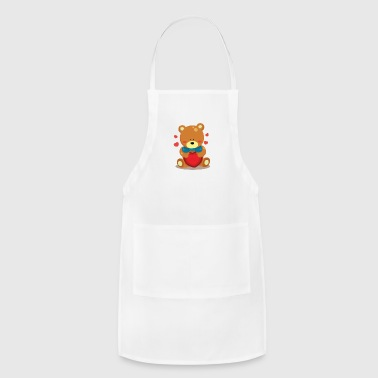 Bear & heart - Adjustable Apron