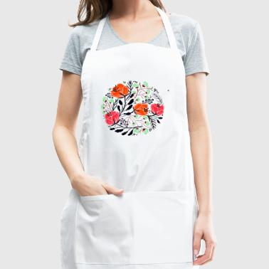 round blossoms - Adjustable Apron