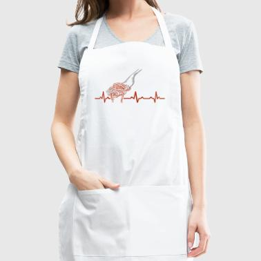 Funny Heartbeats Love Pasta Foodie Design - Adjustable Apron