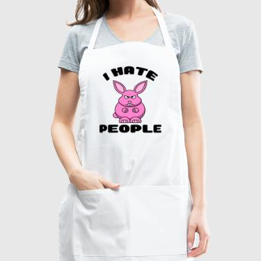 I Hate People Funny Bunny Shirt Hoodie Cup Gift - Adjustable Apron