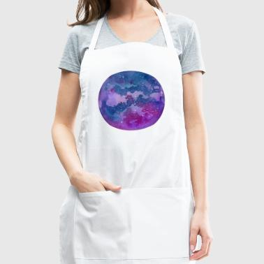 Hand drawn stylized grunge galaxy - Adjustable Apron