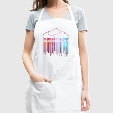 Cloud Rainy Barcode Colorful - Adjustable Apron