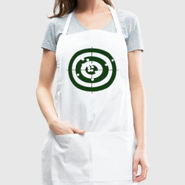 Bullseye Geometry Present Art Design Green - Adjustable Apron