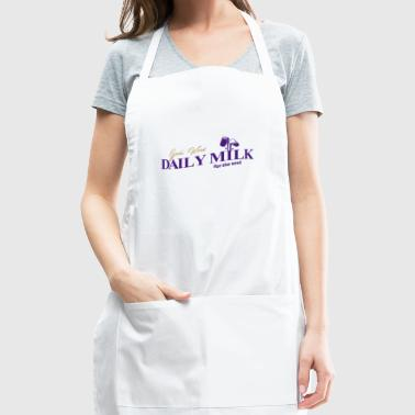 Daily Milk Christian T Shirt color in white - Adjustable Apron