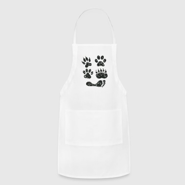 paw print feet - Adjustable Apron