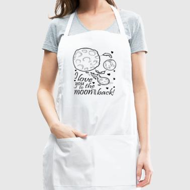 Love you to the moon (black) - Adjustable Apron
