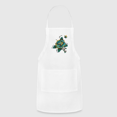 blue rose by lildachi - Adjustable Apron
