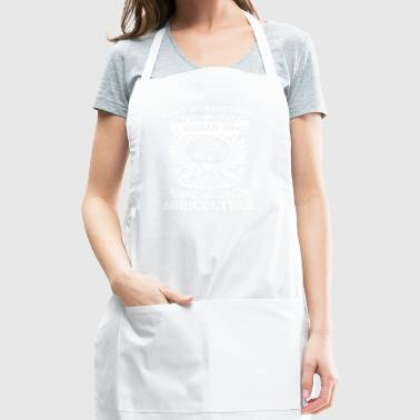 Never Underestimate Woman Who Majored Agriculture - Adjustable Apron