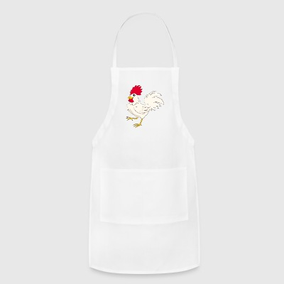 Rooster kock Domestic bird poultry pet vector art - Adjustable Apron