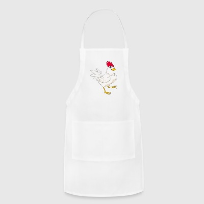 chicken Domestic bird poultry pet vector art image - Adjustable Apron