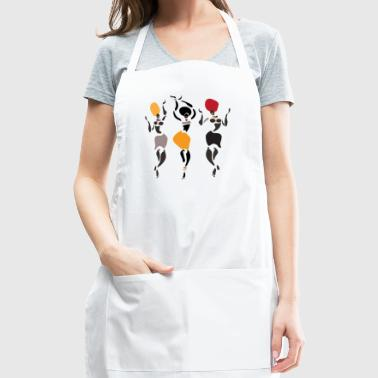 African dancers silhouette - Adjustable Apron
