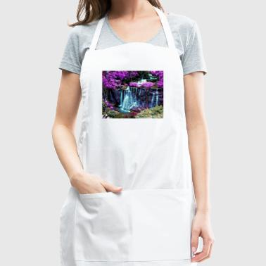 colorful waterfall wallpaper 10389049 - Adjustable Apron