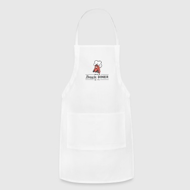 Doggie Diner Logo 1 with NO back color - Adjustable Apron
